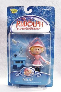 (Kids Train Games)Rudolph the Red Nosed Reindeer Action Figure -Girl Elf Christmas Love, Winter Christmas, Vintage Christmas, Merry Christmas, Rudolph The Rednosed Reindeer, Playing Mantis, Girl Elf, Christmas Characters, Stories For Kids