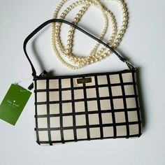 Kate Spade Wristlet *Insta Chic Host Pick 3/30*  Classy checkered design! Brightwater Drive Lolly wristlet New perfect condition. No trades please! kate spade Bags Clutches & Wristlets