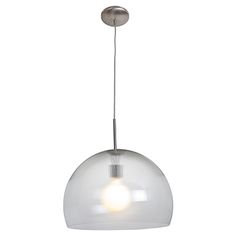 """Acrolite by Access lighting- Brushed Steel Clear Acrylic 18""""D x 64""""OA, 100w E26, $210 at LBC"""