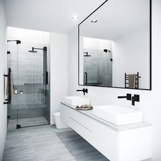 There's no worse feeling than taking a shower in a bathroom that's dim and poorly lit. Luckily, there are a lot of easy shower lighting options that you can go for in your bathroom. Modern Bathroom Design, Bathroom Interior Design, Contemporary Bathrooms, Bath Design, Contemporary Apartment, Modern Bathroom Inspiration, Contemporary Architecture, Best Bathroom Designs, Bedroom Inspiration