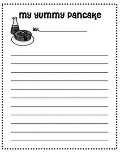 "Yummy Pancakes and Writing with the 5 Senses! (Provide a pancake with syrup to each child, brainstorm before eating) - Use with ""If You Give a Pig a Pancake"""