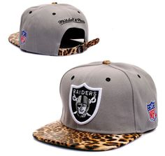 dc11ce5de2f Hot Raiders Leopard Brim Adjustable Baseball Gray Cap Snapback Hip-hop Hat  New in Clothing