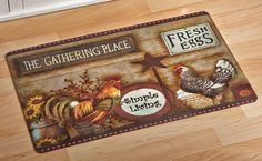 Brighten up your living space, kitchen or foyer with our huge assortment of floor rugs and floor mats for the home that come in all shapes, sizes and colors. Duck Bird, Rooster Kitchen, Rooster Decor, Collections Etc, Decorating With Pictures, Roosters, Floor Mats, Country Kitchen, Ducks