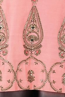 Radhika Airi presents Pastel pink embroidered kurta with pants available only at Pernia's Pop Up Shop. Embroidery Suits Punjabi, Embroidery Suits Design, Bead Embroidery Patterns, Embroidery On Clothes, Hand Work Embroidery, Couture Embroidery, Indian Embroidery, Hand Embroidery Designs, Beaded Embroidery