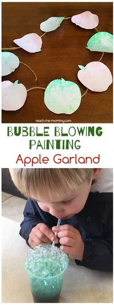 Blowing bubble apple garland