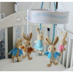 Beatrix Potter Peter Rabbit Musical Cot Mobile for sale online Peter Rabbit Nursery, Bunny Nursery, Girl Nursery, Babies Nursery, Baby Boy Rooms, Baby Boy Nurseries, Baby Room, Kids Rooms, Nursery Themes