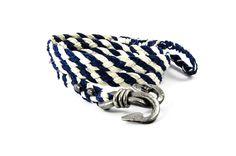 Bransoletka marynistyczna żeglarska kuta #blacksmithanchor #braidedbracelet