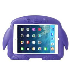 For+iPad+Mini+1/2/3+Purple+Penguin+EVA+Protective+Case