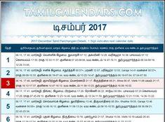 tamil daily calendar november 2018