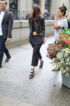 Even in all black, a smile is always the best accessory #NYFW
