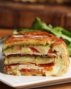 12 Layer Turkey Pesto Panini Bread Bowl Recipe by Tasty