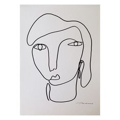Christiane Spangsberg - Phenomenal woman - drawn with just one line