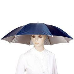 Creative Headdress Sun Umbrella Fishing UV Protection Sunblock Camping Outdoor Sports Umbrella Cap #Affiliate