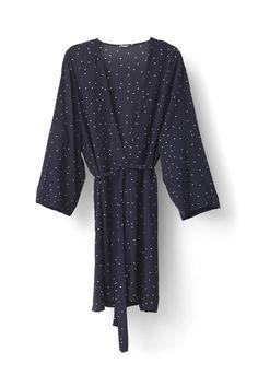 Rosemont Crepe Kimono, Dotted Eclipse