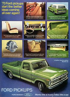 1973 Ford Pickup Truck Advertising Outdoor Life April 1973 | Flickr - Photo…