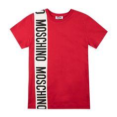ed0b4ab0e18e Boys Bold Logo T-Shirt - Red by Moschino