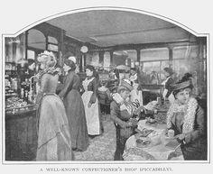 Confectioner's shop, vintage