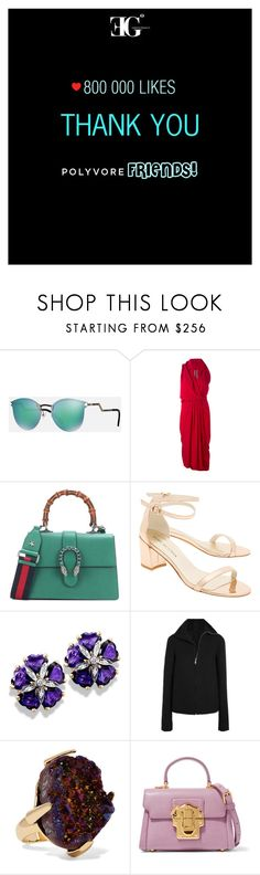 """ƎG°: Thank you"" by eleonoragocevska ❤ liked on Polyvore featuring Fendi, Rick Owens, Gucci, Stuart Weitzman, Christopher Kane and Dolce&Gabbana"