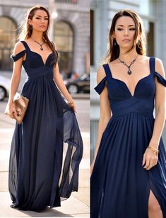 Long Prom Dresses, Navy Prom Dresses, Off The Shoulder Prom Dresses, Prom Dresses Long, Prom Long Dresses, Off The Shoulder dresses, Off Shoulder dresses, Long Evening Dresses, Side Split Prom Dresses, Off-the-Shoulder Prom Dresses
