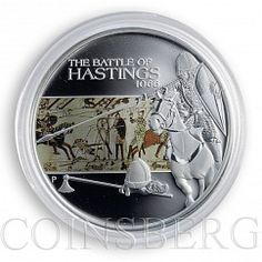 Tuvalu 1 dollar Famous Battles in History Battle of Hastings Silver Proof 2009