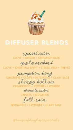 autumn diffuser blends fall diffuser blends young living essential oils yummy diffuser blends diffuser recipes wellness eo nontoxic halloween cozy how to Fall Essential Oils, Essential Oil Diffuser Blends, Young Living Essential Oils, Essential Oil Blends, Essential Oil Combinations, Doterra, Diffuser Recipes, Aromatherapy Oils, Stress