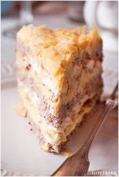 My apple cream pie Easy Thanksgiving Deserts, Just Desserts, Dessert Recipes, Cream Pie, Holiday Treats, Cornbread, Vanilla Cake, Pudding, Sweets