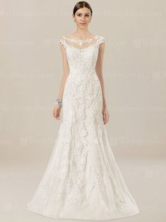 Lace wedding dress is crafted in Tulle with stunning Lace appliques.