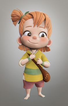 Character Modeling, Character Creation, Character Drawing, Character Design, Cartoon Kids, Girl Cartoon, Cute Cartoon, 3d Cartoon, Cute Characters