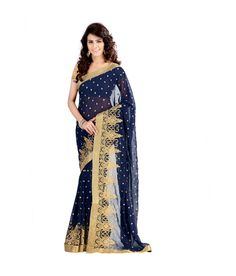 Loved it: Rekha Maniyar Fashions Navy Embroidered Faux Chiffon Saree With Blouse Piece, http://www.snapdeal.com/product/rekha-maniyar-fashions-navy-embroidered/1993848604
