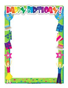 This bright happy birthday border features a cake with candles, party hats and… Birthday Bulletin Boards, Classroom Birthday, Printable Border, Birthday Parties, Happy Birthday, Page Borders, Colourful Balloons, Career Path, Cup Cakes