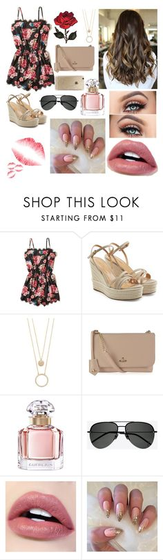 """Untitled #40"" by natna0049 ❤ liked on Polyvore featuring Hollister Co., Sergio Rossi, Kate Spade, Vivienne Westwood, Guerlain, Yves Saint Laurent and Rifle Paper Co"