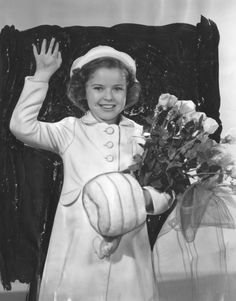 Press photograph of Shirley Temple as the Grand Marshal for the Tournament of Roses parade in Pasadena, 1939.