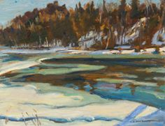 A.Y.Jackson 1882 - 1974 MADAWASKA RIVER, ONT - dated 1961 Group Of Seven Artists, Group Of Seven Paintings, Canadian Painters, Canadian Artists, Impressionist Paintings, Landscape Paintings, Tom Thomson Paintings, Ottawa Valley, Emily Carr