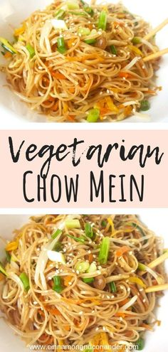 Rezepte Chinesisch Vegetarian Chow Mein - better than from the delivery Vegetarisches Chow Mein – besser als vom Lieferservice Fried Noodles Chow Mein Fun Easy Recipes, Easy Meals, Dinner Recipes, Healthy Recipes, Chow Chow, Feta, Cooking Recipes, Ethnic Recipes, Recipes With Rice Noodles