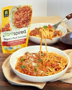 Our Plantspired Vegan Bolognese is quick, easy, healthy and so delicious!