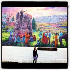 "Historical Mural ""Rock Of Ages"". The Dalles, Oregon"