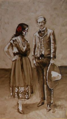 Painted for La Boca Restaurant, Day of the dead theme, by Patrick Ganino
