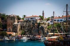 Old Antalya Harbour - Antalya Turkey Famous Landmarks, Antalya, Old Town, Adventure Travel, Europe, City, Places, Adventure Tours, Lugares