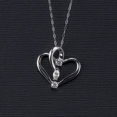 3 Diamond Heart Pendant