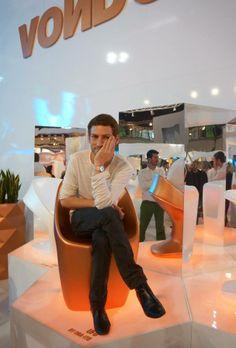 iSaloni Internazionale del Mobile.  Designer Ora Ito Ufo chair