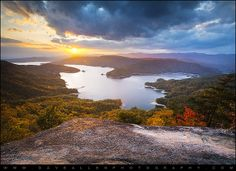 Blue Ridge Mountains Sunset - Lake Jocassee Gold.  About an Hour and Half From Greenville, SC | Flickr - Photo Sharing!