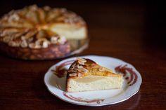 Ciasto migdałowe z gruszkami, bez mąki i tłuszczu II Cooking for Emily Gallette Recipe, Maki, Dessert Recipes, Desserts, Sweet Recipes, Cheesecake, Food And Drink, Gluten Free, Pudding