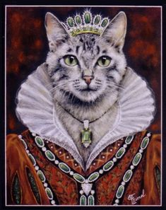 99 Furry Art, Art Mignon, Fancy Cats, Cat People, Vintage Cat, Cute Cats And Kittens, Dog Portraits, Pet Clothes, Pictures To Draw
