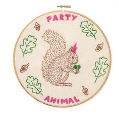 Party Animal Embroidery Kit