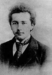 The young Einstein in 1895, the year in which his family moved to Milan. Italy, country of the art. He was highly impressed with it and through it on foot, from Milan-Padua, Padua to Florence...