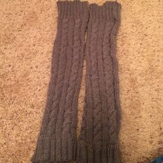 Gray sparkle leg warmers Worn once, new condition. Thick material with shimmer thread throughout Accessories Hosiery & Socks