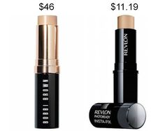 Try Revlon Photoready Insta-Fix foundation stick instead of Bobbi Brown and save about $34. | 19 Incredible Drugstore Makeup Dupes That Will Change Your Life