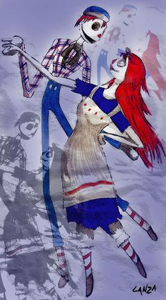 Raggedy Jack and Sally - The Nightmare Before Christmas