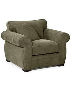 "Devon Fabric Arm Chair, 47\""W x 38\""D x 29\""H"