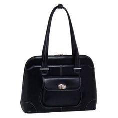 McKlein USA Avon Leather Ladies Briefcase Black - 96655